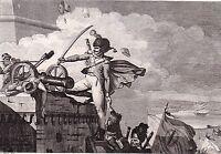 Gravure Joseph Cala Guide de Napoléon Bonaparte Premier Empire Egypte 1825