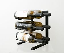6 Bottle VintageView® Table Top Metal Wine Rack. Satin Black Finish. Free Ship!