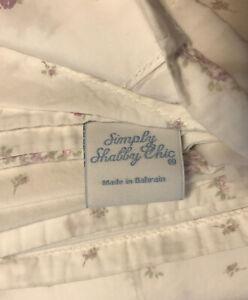 Rachel Ashwell Lilac Calico Floral Shabby Chic Twin Flat Sheet