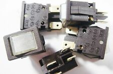 5 x Wippschalter Schalter 2xEIN-AUS 250V 10A Kontroll Leuchte Anzeige #3S39#