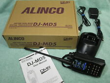 🔥 MINT🔥Alinco DJ-MD5T GP DUAL BAND HAM RADIO TRANSCEIVER DMR VHF UHF HT w/GPS