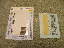 Microscale decals HO MC-4383 BNSF Railway diesels switchers slugs 2005+  K106