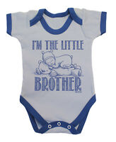 IM THE LITTLE BROTHER Funny Boys BabyGrow Bodysuit Rompersuit Vest Baby Clothing