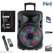 beFree Sound 15 Inch Bluetooth Rechargeable Party Speaker With Illuminating Ligh