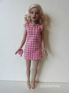 Tiny Kitty Doll Clothes Houndstooth Dress, Purse & Jewelry Fashion NO DOLL d4e