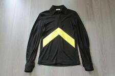 CELINE Fluid Viscose Jersey Top Zipper Black Yellow Chevron 34 Phoebe Fall 17