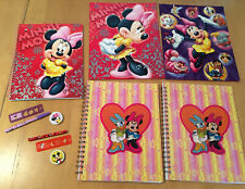 DISNEY FOLDERS AND SPIRAL NOTEBOOK SET Minnie Mouse & Daisy Duck—Please Read