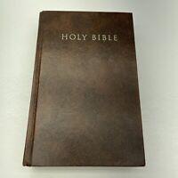 Holy Bible New International Version Zondervan 1988 Dark Brown Hardcover Signed