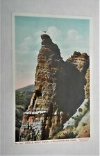 Vint. Color P/C of Montana -Eagle Nest Rock, Yellowstone Park, Signed Haynes
