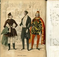 1843 MUSEE DES MODE COPY OF the original BOOK with its Clothing PATTERNS