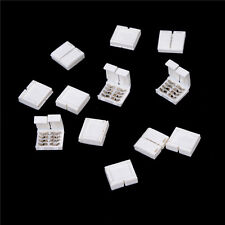 10PCS 4-PIN RGB Connector Adapter For 5050 RGB LED Strip Solderless 10mm# BH