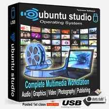 Ubuntu Studio 2019 USB Stick*Install on any Computer* (Replace Windows 7,8,10 )