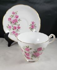 Regency Pink Sweetheart Roses English Bone China Teacup and Saucers