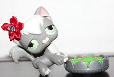Littlest Pet Shop Angora Cat No # Puzzle White Grey Gray Accessory Lot Kitten