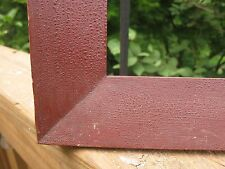 c1840 Excellent AMERICAN Dry OXBLOOD RED Folk Art Antique Primitive FRAKTUR Frme