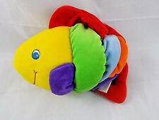 "Carter's Fish Plush 8"" Long Lights Up Musical Pull Toy"
