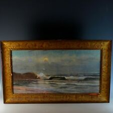 Watercolor Painting Coastal Seascape View by H.J Leach