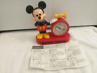 Vintage Walt Disney Mickey Mouse Lorus Quartz Clock w/ Talking Alarm Japan RARE