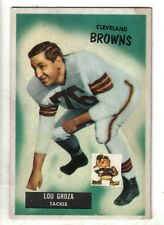 1955 Bowman Football card #37, Lou Groza, Cleveland Browns EX