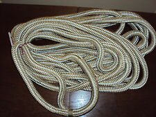GOLD/WHITE 5/8 x 25FT Double Braid Dock Lines PAIR Boating