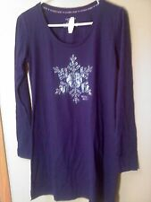 VICTORIA'S SECRET Deep Blue Snowflake Sleepshirt  NWT Small