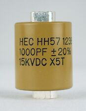 Factory New High Energy HH57Y102MA  1000 Pf 15KV Ceramic Doorknob Capacitor Ham