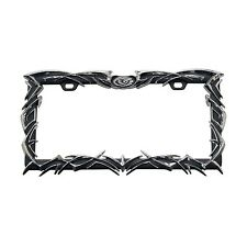 Pilot Automotive Chrome Tribal Flame License  Frame with  Black Finish