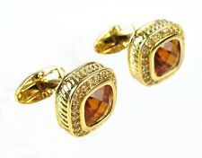 NEW Royal Gold Crystal Mens Wedding Party gift shirt cufflinks cuff links