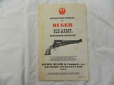 Inst. Manual Ruger Old Army Revolver 1979