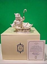 LENOX A BLUSTERY DAY ADVENTURE sculpture NEW in BOX with COA Pooh & Piglet
