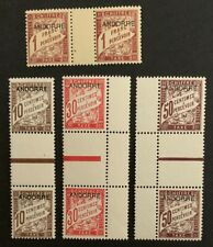 Andorra French Andorre 4 Gutter Pairs MNH C4/9 Incredible Collection