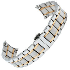 19mm 2 Tone Stainless Steel watch Bracelet Strap Band Compatible for Master L2