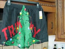 Trimmy Tree Christmas silk boxer shorts underwear New old Stock w/ tags vintage