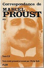 Littérature / Correspondance de Marcel Proust / PLON / Philip KOLB