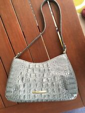 BRAHMIN ANYTIME MINI MELBOURNE HANDBAG Lovely Blue Gray-Pre-owned