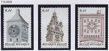 Belgium**HISTORIC CLOCK TOWERS-3vals-2005-Horloges-Montres-Uhren-Uurwerken-MNH