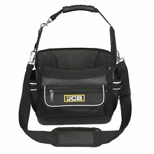 """JCB Electricians Plumbers 12"""" Tool Open Tote & Parts Storage Bag Holder TTB-01"""