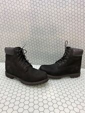 Timberland Premium 6 Inch Black Nubuck Waterproof Lace Up Boots Men's Size 11 M