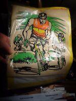 Transfer à Vètement Ancien Coureur Cyscliste à Vélo de Course tel Tour de France