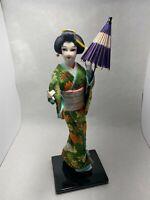 Vintage Nishi Doll Made In Japan Nishi & Co. with umbrella