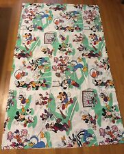 Vintage Disney Sports Full Double Bed Sheets Flat Fitted Mickey Minnie Donald