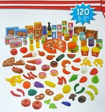 120 Teile Lebensmittel Set Spielzeug Kaufladen Obst Gemüse - Karton beschädigt