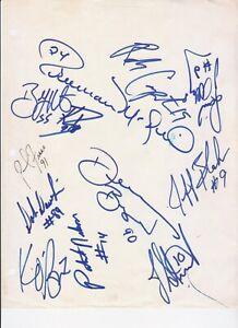 NY Jets Team SIGNED Dennis Byrd Freeman McNeil Carpenter Ken O'Brien Blake+ 90's