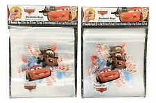2X Disney Pixar Cars Themed Sandwich Bags 40 Total; Party Treat Bags McQueen