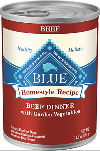 Blue Buffalo Homestyle Lamb Dinner with Garden Vegetables Can Dog Food 12/12.5oz
