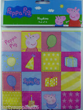 PEPPA PIG PARTY SUPPLIES LUNCH NAPKINS 2 PLY PACK OF 16