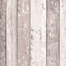 Beige Crema Carta da parati effetto legno con effetto invecchiato in legno grano Surf Beach HUT vinile