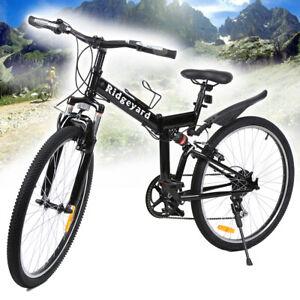 "26 Inch SHIMANO 7 Gear Speed Foldable MTB Bicycle 26"" Folding Mountain Bike"