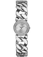 New Authentic GUESS Fashion Ladies Watch Silvertone Stainless Steel W90081L1 NWT