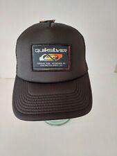 QUIKSILVER slab scrapper TRUCKER CAP HAT black NEW youth teens Surf Logo 1 size